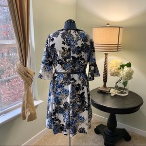 Lane Bryant Dresses - Lane Bryant Floral Fit and Flare Dress Size 14